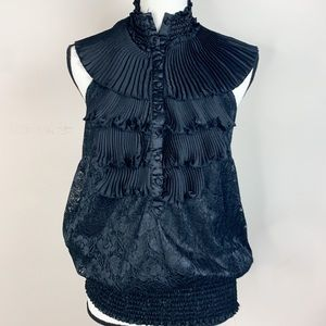 Poetry Clothing Halter Lace Blouse Top